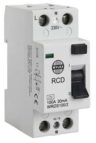 WYLEX WRDS100/2  2P 30Ma 100A Dc Type A Rcd
